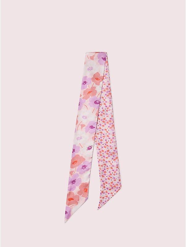 poppy field silk skinny scarf, , rr_large