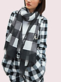party plaid oblong scarf, , s7productThumbnail