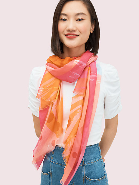 abstract cocktail oblong scarf by kate spade new york
