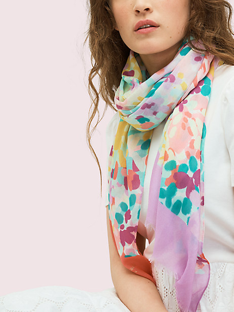 painted petals oblong scarf by kate spade new york