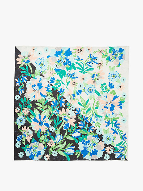 full bloom silk square scarf by kate spade new york