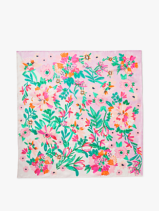 full bloom silk square scarf by kate spade new york hover view