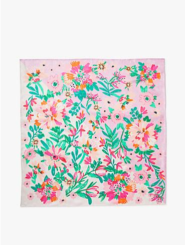 full bloom silk square scarf, , rr_productgrid