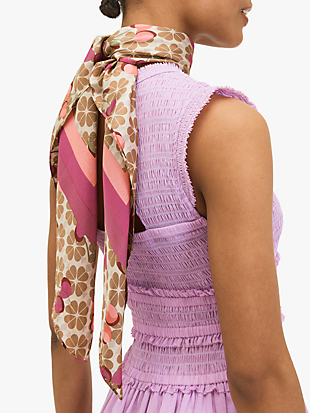 cherries flower square scarf by kate spade new york non-hover view