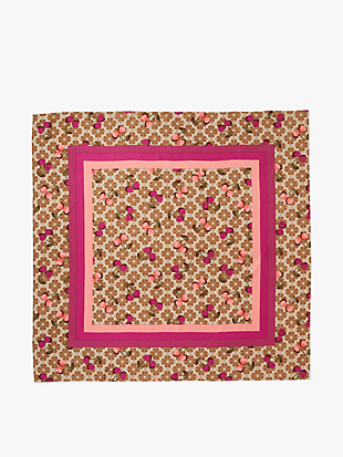 cherries flower square scarf by kate spade new york hover view