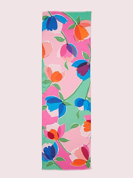 Watercolor garden oblong scarf   Kate Spade New York