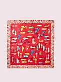 shoe silk square scarf, , s7productThumbnail