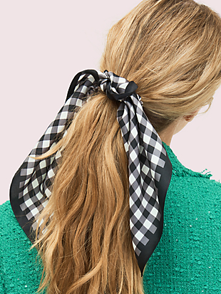 garden gingham hair tie by kate spade new york non-hover view