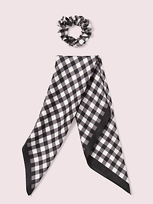 garden gingham hair tie by kate spade new york hover view