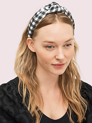 garden gingham headband  by kate spade new york non-hover view