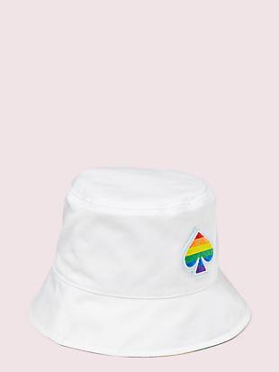 rainbow reversible bucket hat by kate spade new york non-hover view