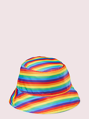 rainbow reversible bucket hat by kate spade new york hover view