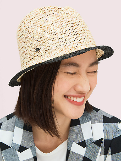 heritage stripe crushable fedora by kate spade new york