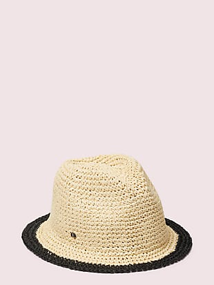 heritage stripe crushable fedora by kate spade new york hover view