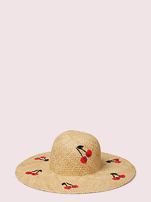 cherries raffia sunhat by kate spade new york non-hover view