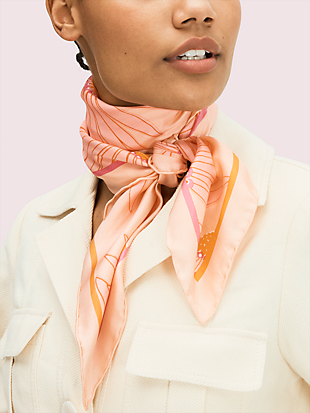 falling flower square scarf by kate spade new york non-hover view