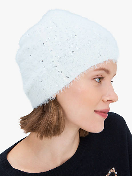 sequin slouchy beanie by kate spade new york