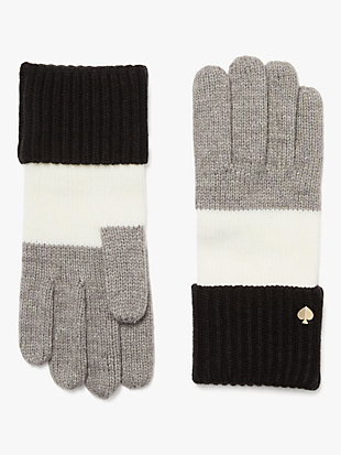 colorblock gloves by kate spade new york hover view