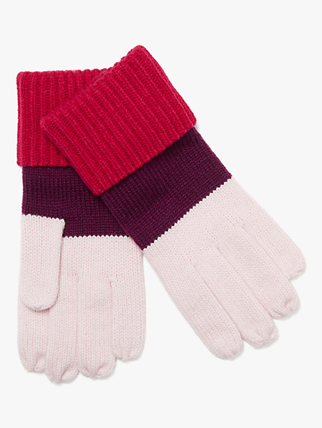 colorblock gloves by kate spade new york