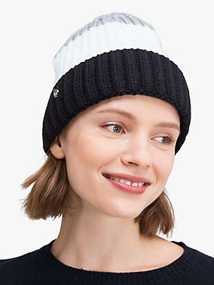 colorblock beanie by kate spade new york non-hover view