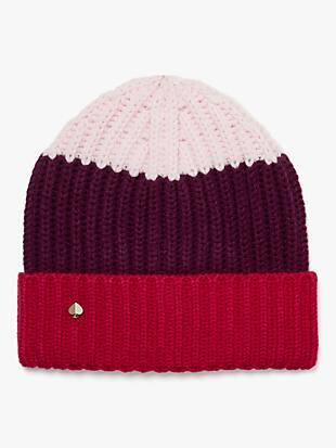 colorblock beanie by kate spade new york hover view