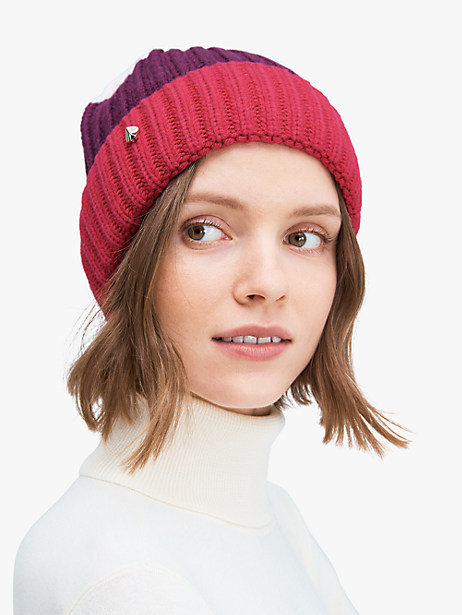 colorblock beanie by kate spade new york