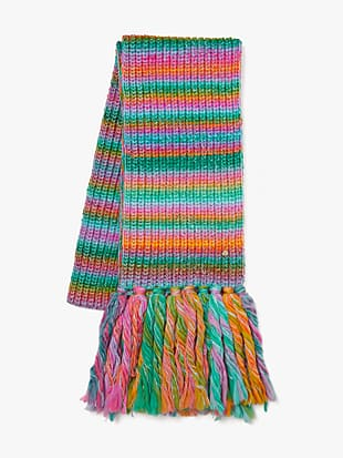 marled stripe scarf by kate spade new york hover view