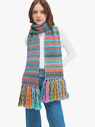 marled stripe scarf by kate spade new york non-hover view