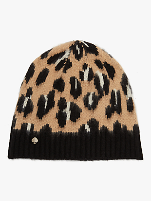 leopard beanie by kate spade new york hover view