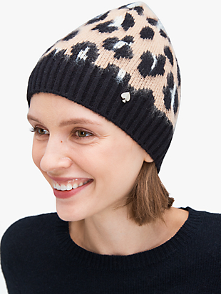 leopard beanie by kate spade new york non-hover view