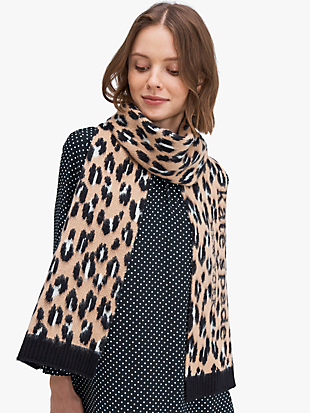 leopard scarf by kate spade new york non-hover view