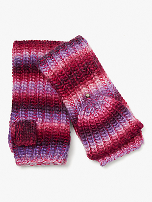 marled stripe pop-top gloves by kate spade new york non-hover view