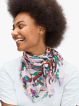 fleur nouveau square scarf by kate spade new york non-hover view