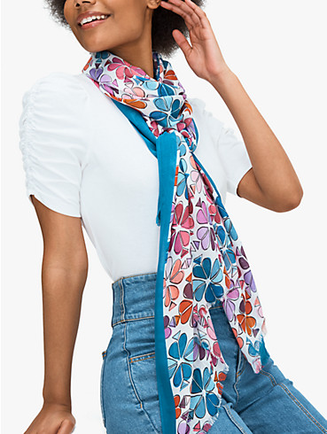 painterly spade flower oblong scarf, , rr_productgrid