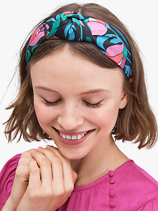 floral swirl headband by kate spade new york non-hover view
