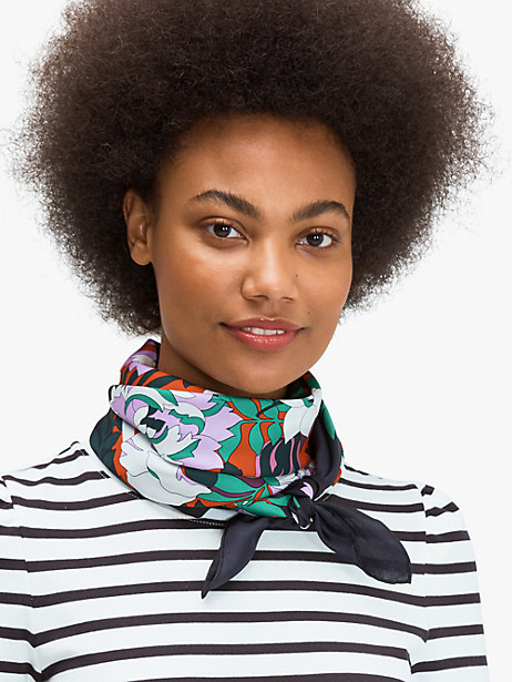 fantasy floral silk square scarf by kate spade new york