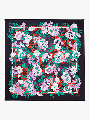 fantasy floral silk square scarf by kate spade new york hover view