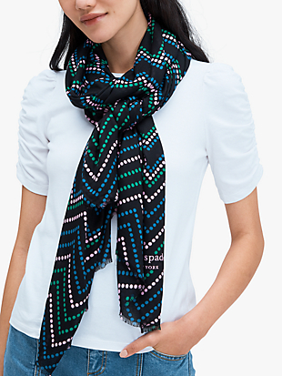 chevron dot oblong scarf by kate spade new york non-hover view