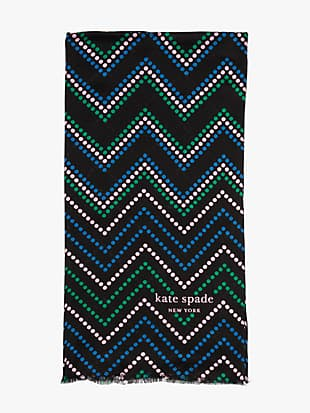 chevron dot oblong scarf by kate spade new york hover view