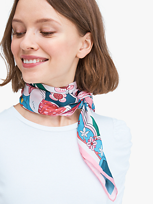 psychedelic wonderland silk square scarf by kate spade new york non-hover view