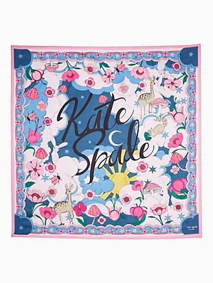 psychedelic wonderland silk square scarf by kate spade new york hover view