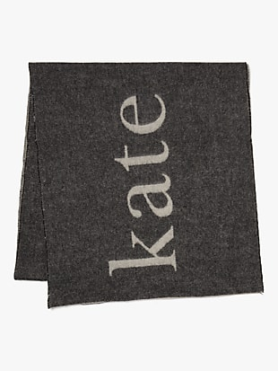 woven logo scarf by kate spade new york hover view