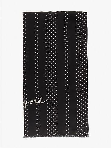 pin dot stripe oblong scarf, , rr_productgrid