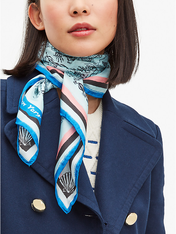 holiday travel toile silk square scarf, , rr_large