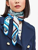 holiday travel toile silk square scarf, , s7productThumbnail