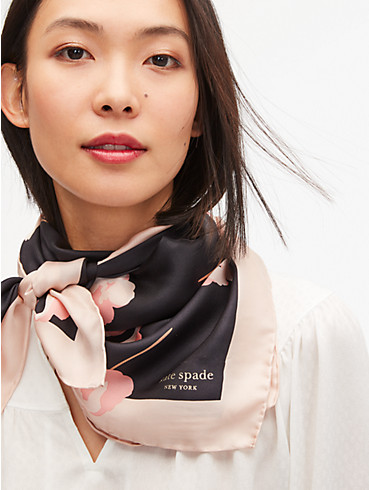 falling poppies silk square scarf, , rr_productgrid