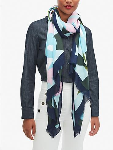 colorblock floral oblong scarf, , rr_productgrid