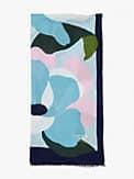 Colorblock Floral Schal, rechteckig, , s7productThumbnail