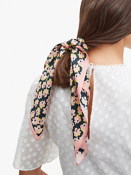 Kate Spade COLORBLOCK FLORAL HAIR TIE & BANDANA SET