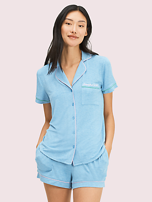 breakfast in bed short pj by kate spade new york non-hover view